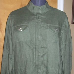 Jones New York Nehru Jacket - Olive - Size XL